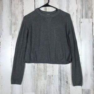 Knit Wear | Cropped Grey Sweater Small